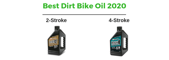 2-stroke and 4-stroke dirt bike oil