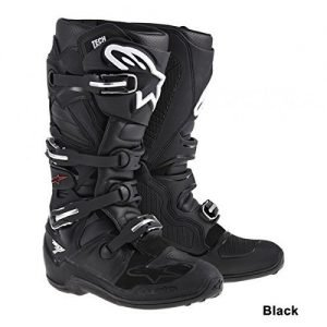 Alpinestars Tech 7 black premium dirt bike boots