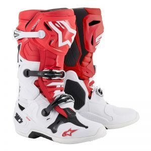 Alpinestars_tech-10-white-Red best motocross boots