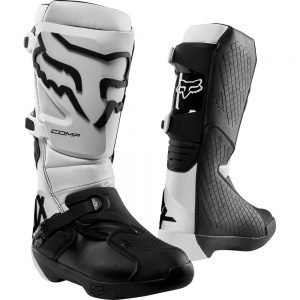 Fox Comp Intermediate dire bike boots white
