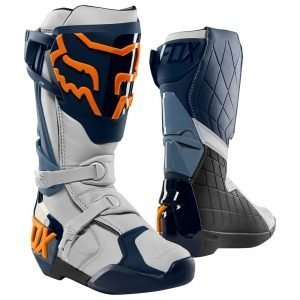 Fox_Comp R_KTM ORange and white dirt bike boots