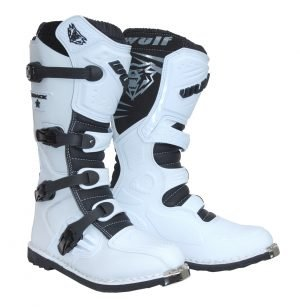Best cheap dirt bike boots - Trackstar white
