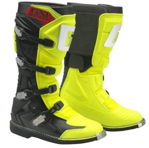 Gaerne GX1 dirt bike boots yellow