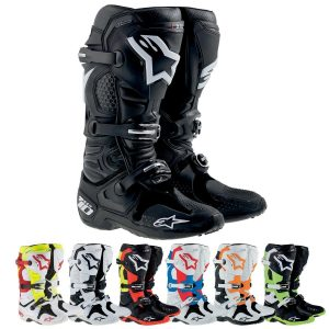 alpinestars tech10 black pro dirt bike boots