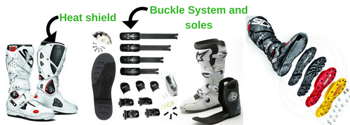 Main features of a dirt bike boot