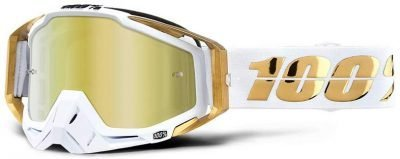 100% Racecraft Dirt Bike Goggles - glasses LTD, mirror gold lens