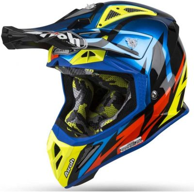 Airoh Aviator 2.3 AMS² MMotocross Helmet - Great Chrome Blue
