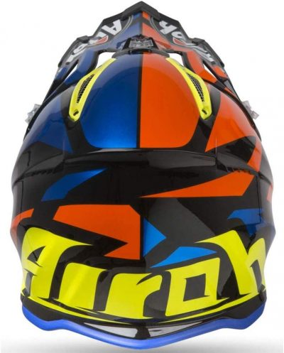 Airoh Aviator 2.3 AMS² Dirt bike Helmet - Great Chrome Blue from back