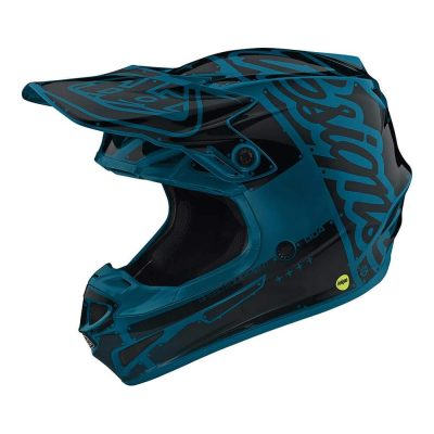 Troy Lee Designs Youth Kids Polyacrylite SE4 Factory kids dirt bike helmet