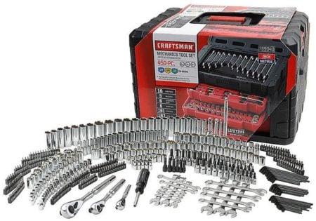 Craftsman 450 piece dirt bike mechanics tool set