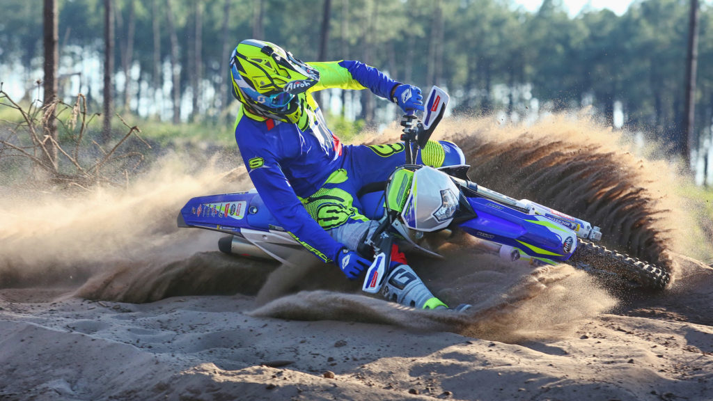 Sherco 300 SEF Dual Sport Motorcycle in action